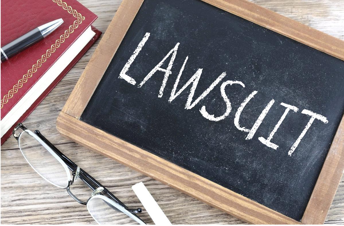 Lawsuit - Chalkboard image