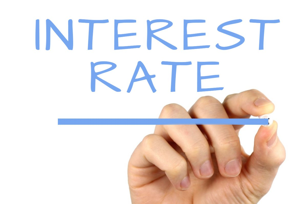 Interest Rate - Handwriting image