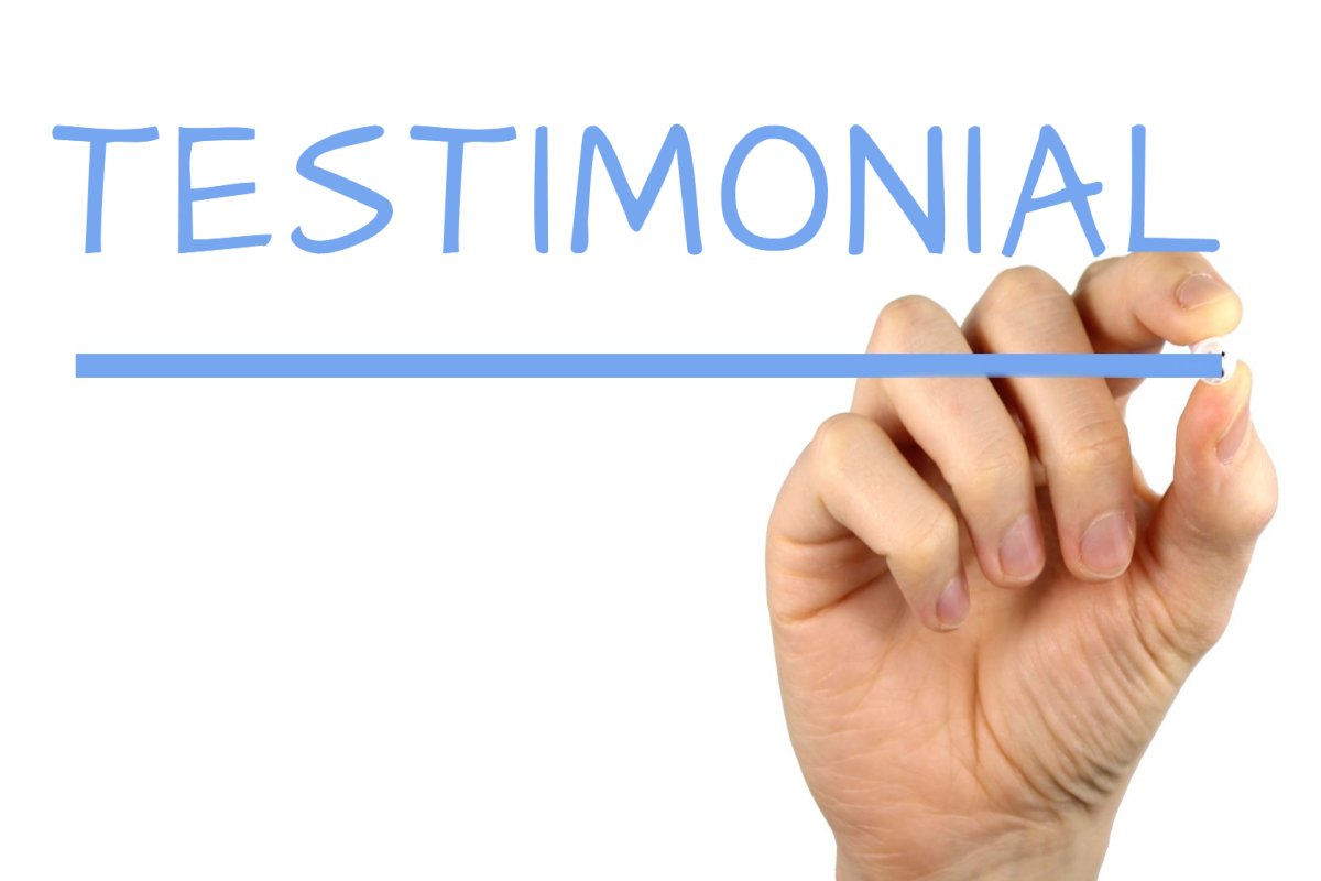 A picture of testimonial to better elaborate Are online marketing courses legit?