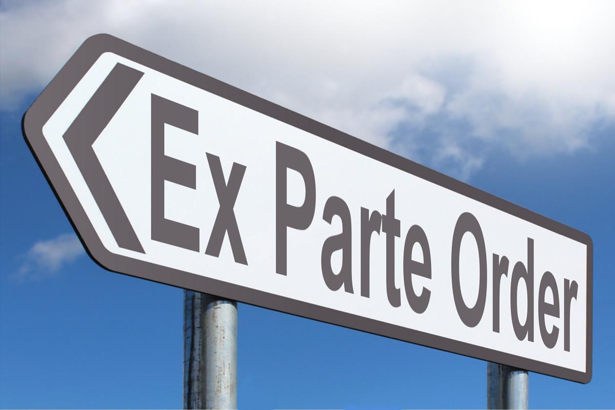 Ex Parte Order