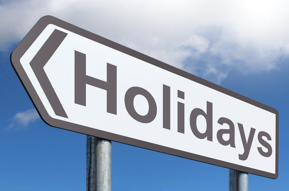 Holidays - Free of Charge Creative Commons Highway Sign image