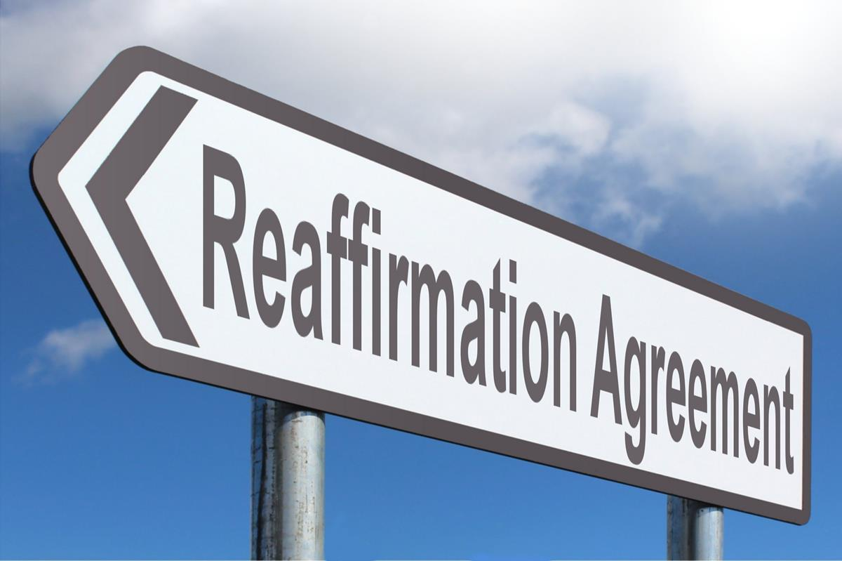 Reaffirmation Agreement Highway Sign Image