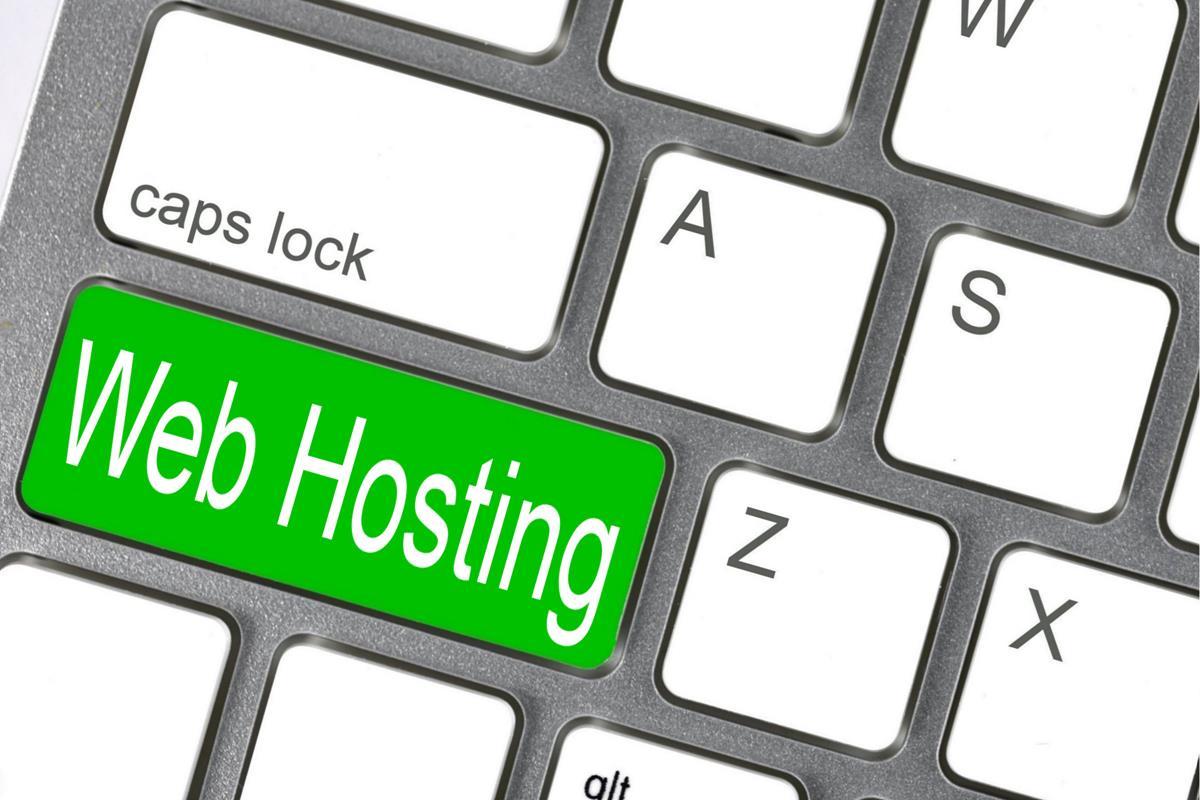 Web Hosting - Keyboard image
